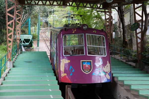 Fahrt zum Maya-san, einer der drei Aussichtsberge von Kobe