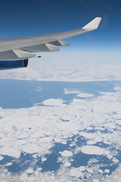 Über dem Eismeer bei Archangelsk