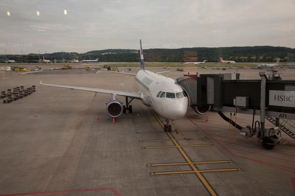 Unser Flug nach Helsinki