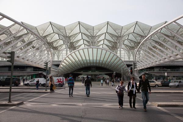 Estação do Oriente, erbaut von Santiago Calatrava